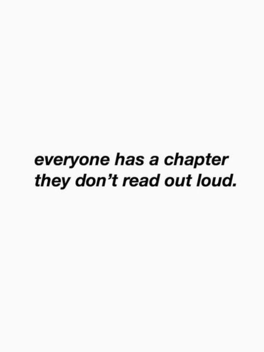 Everyone has a chapter